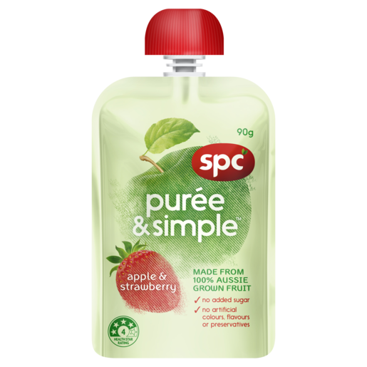 SPC Puree & Simple Apple & Strawberry 90g