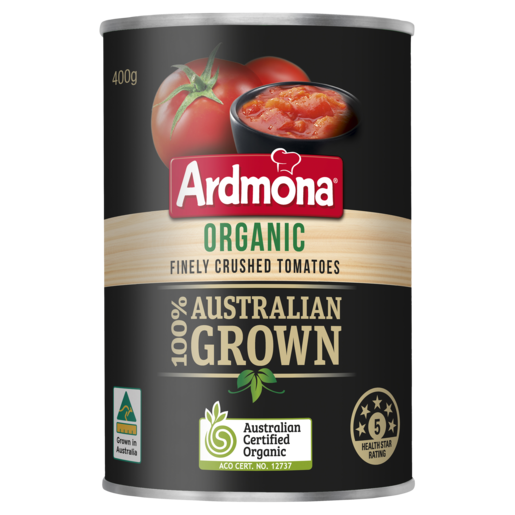 Ardmona Organic Finely Crushed Tomatoes 400g