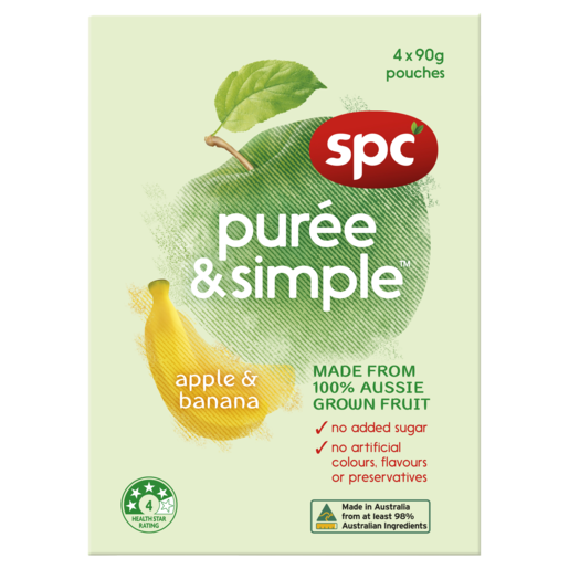 SPC Puree & Simple Apple & Banana 4 x 90g