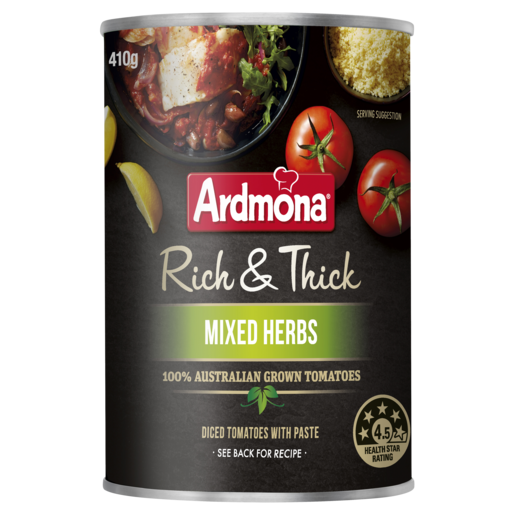 Ardmona Rich & Thick Chopped Tomato Mixed Herbs 410g