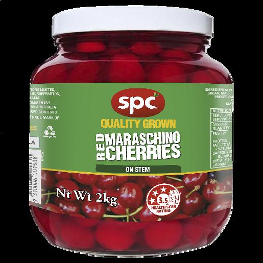 SPC Cherries Red Maraschino on Stem 2kg