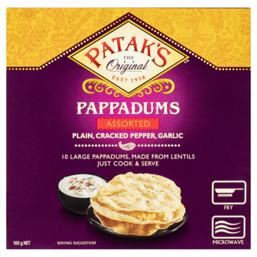 Patak's Pappadums Assorted 10 Pack
