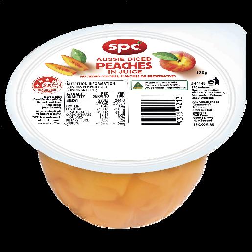 SPC Peaches Diced in Juice 120g