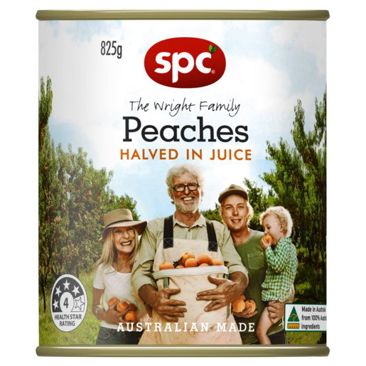 SPC Peaches Halved in Juice 825g