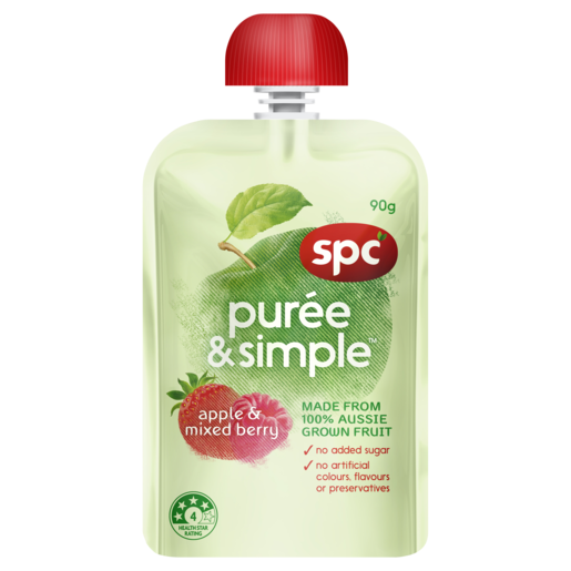 SPC Puree & Simple Apple & Mixed Berry 90g