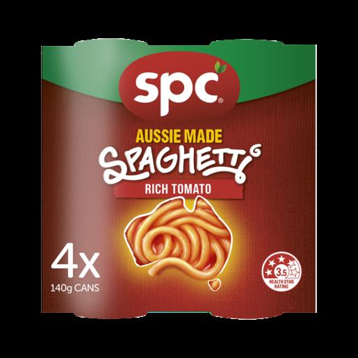 SPC Spaghetti Rich Tomato 4 x 140g