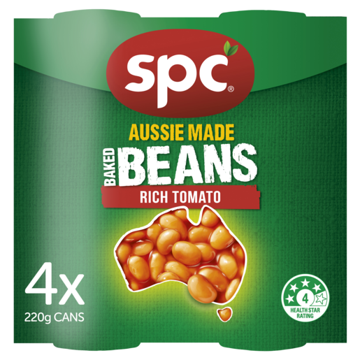 SPC Baked Beans Rich Tomato 4 x 220g