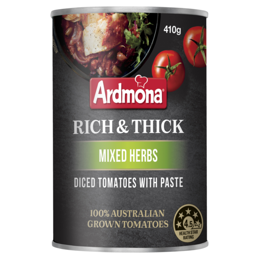 Ardmona Rich & Thick Diced Tomato with Paste Mixed Herbs 410g