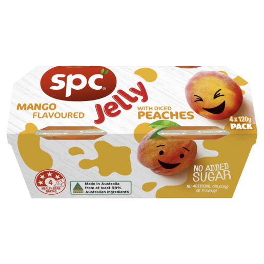 SPC Diced Peaches in Mango Jelly 4 x 120g