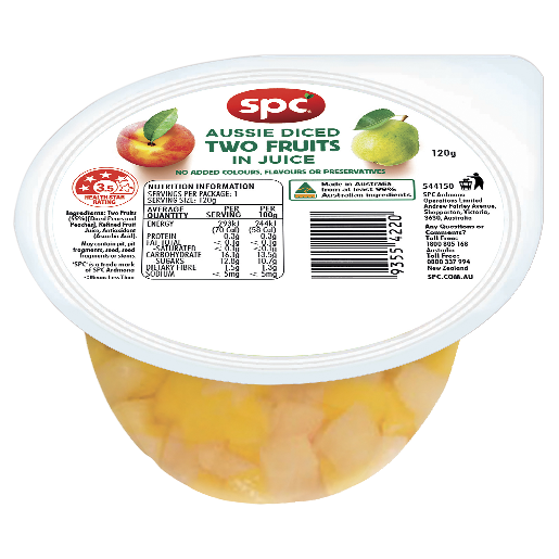 SPC Two Fruits Diced in Juice 120g