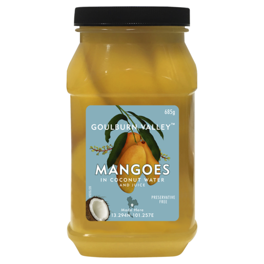 Goulburn Valley Sliced Mangoes in Coconut Water 685g
