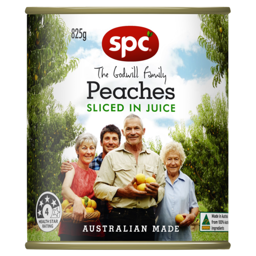 SPC Peaches Sliced in Juice 825g