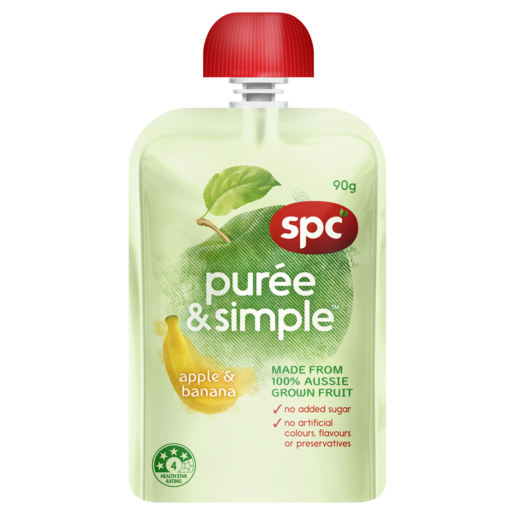 SPC Puree & Simple Apple & Banana 90g