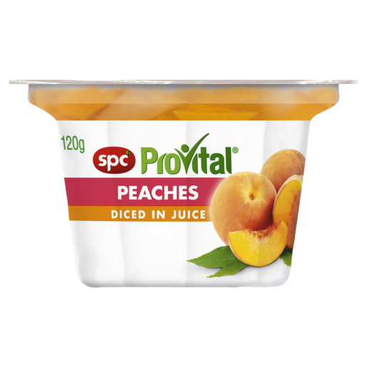 SPC ProVital Peaches Diced in Juice 120g
