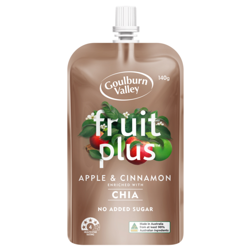 Goulburn Valley Fruit Plus Apple & Cinnamon 140g