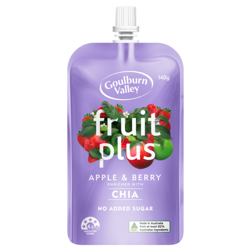 Goulburn Valley Fruit Plus Apple & Berry 140g
