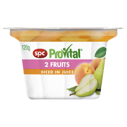 SPC ProVital 2 Fruits Diced in Juice 120g