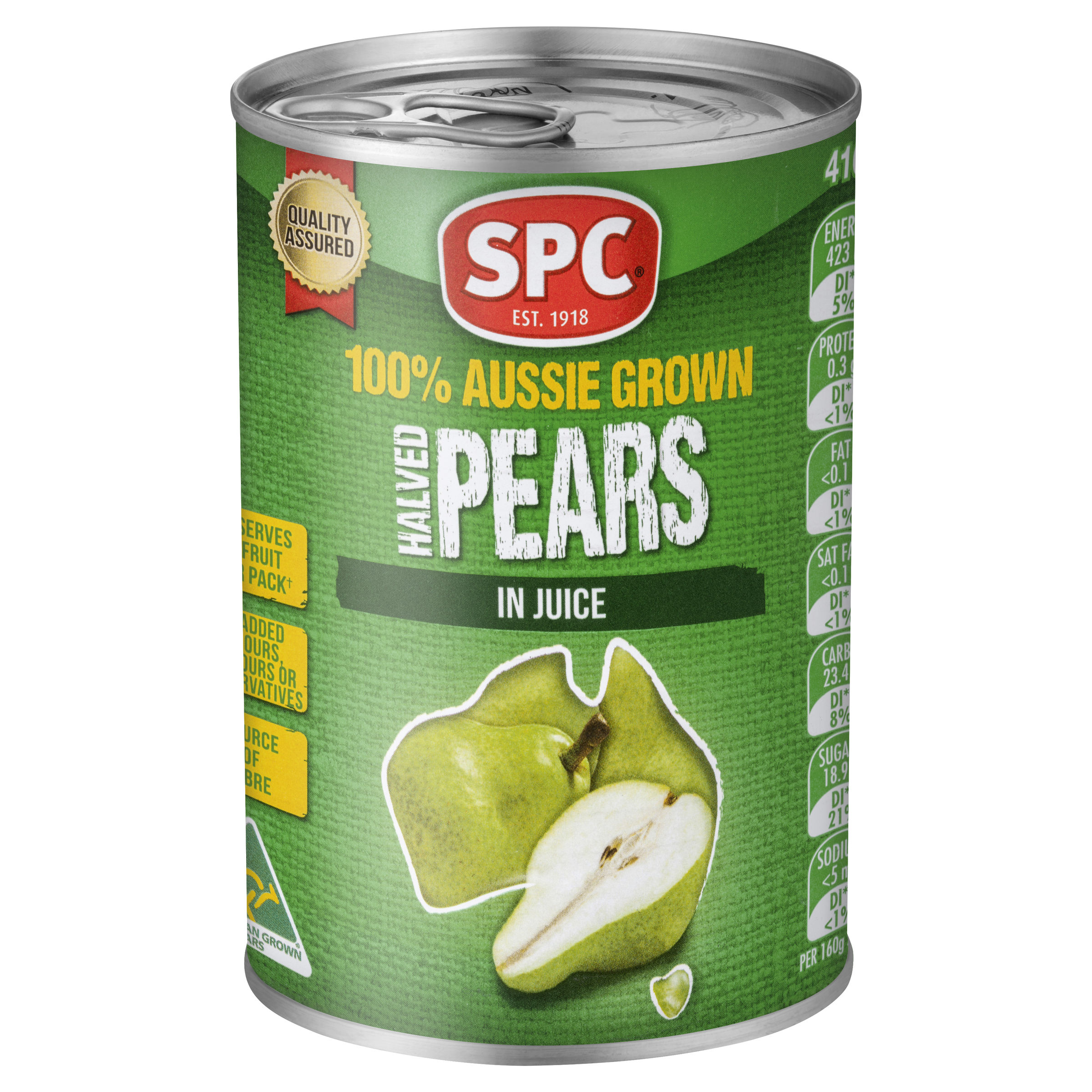 SPC Halved Pears in Juice 410g