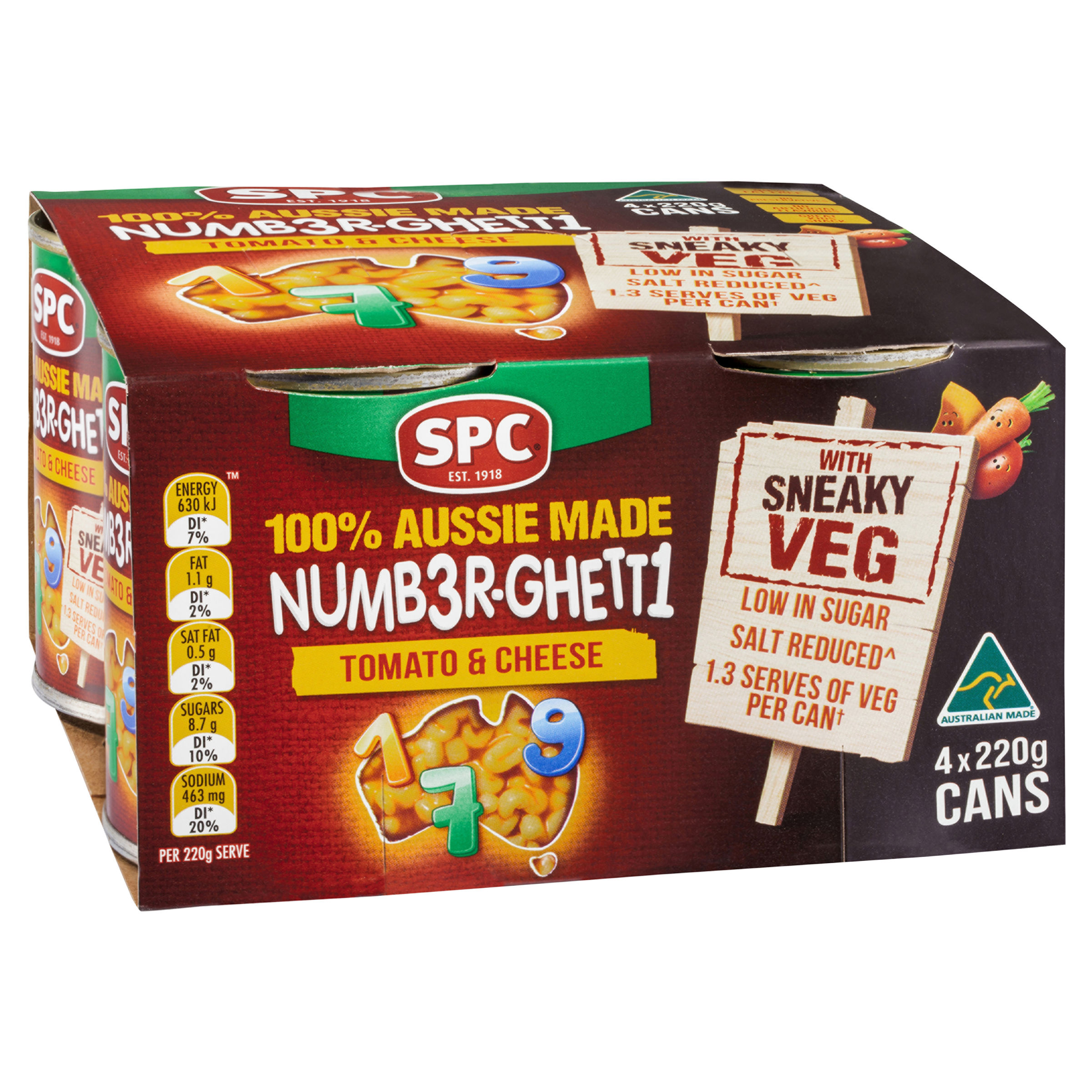 SPC Number-Ghetti Tomato and Cheese with Sneaky Veg 4 x 220g
