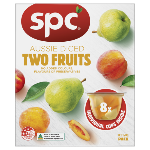 SPC Diced Two Fruits In Juice 8 x 120g