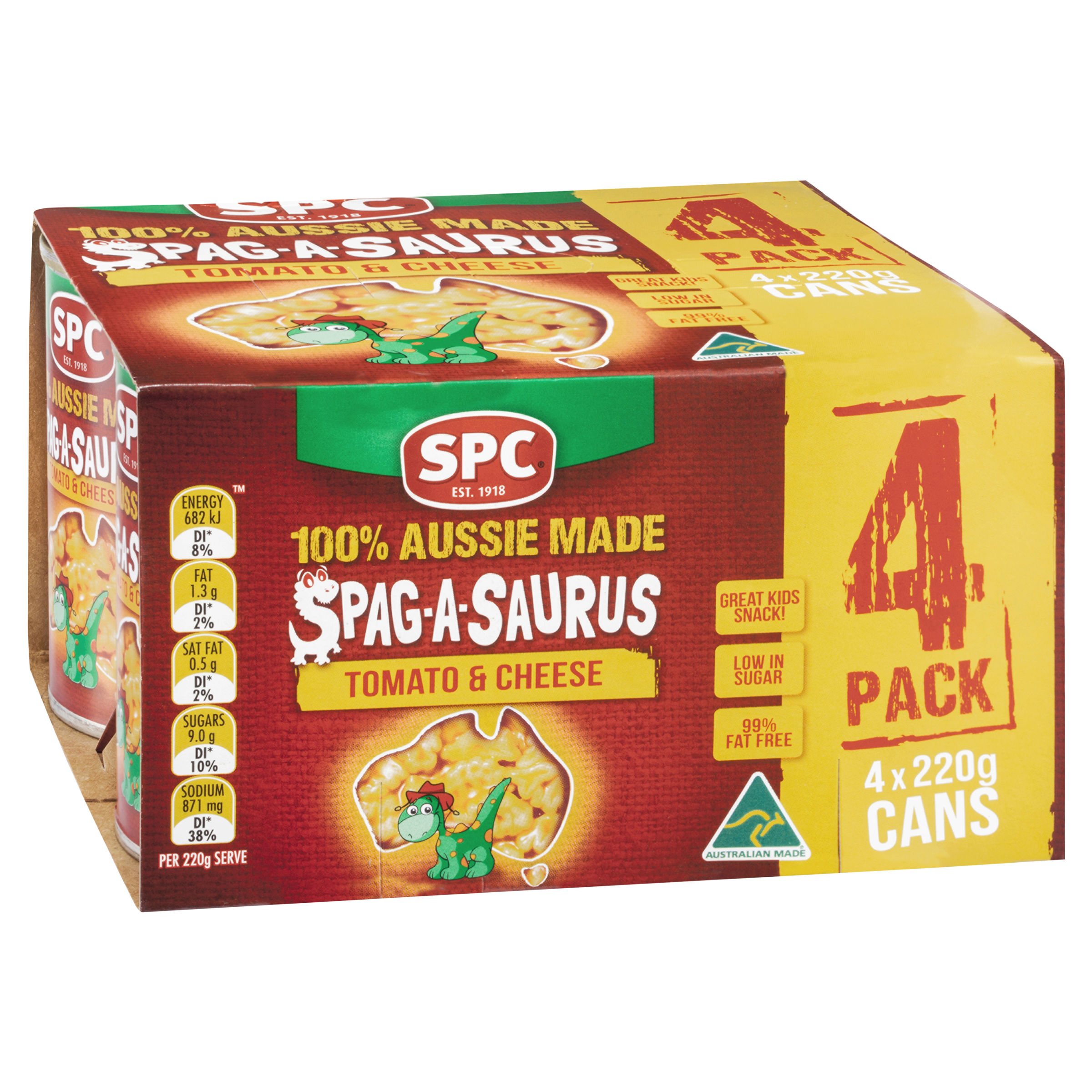 SPC Spag-A-Saurus Tomato & Cheese 4 x 220g
