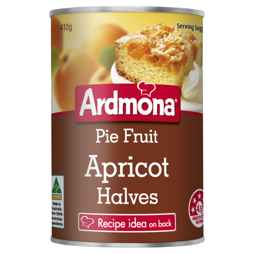 Ardmona Pie Fruit Apricot Halves 410g