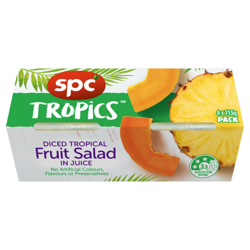 SPC Tropical Fruit Salad in juice 4 x 113g