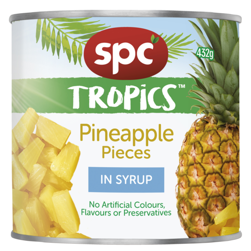 SPC Tropics Pineapple Pieces in Syrup 432g