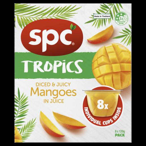 SPC Tropics Mangoes In Juice 8 x 120g