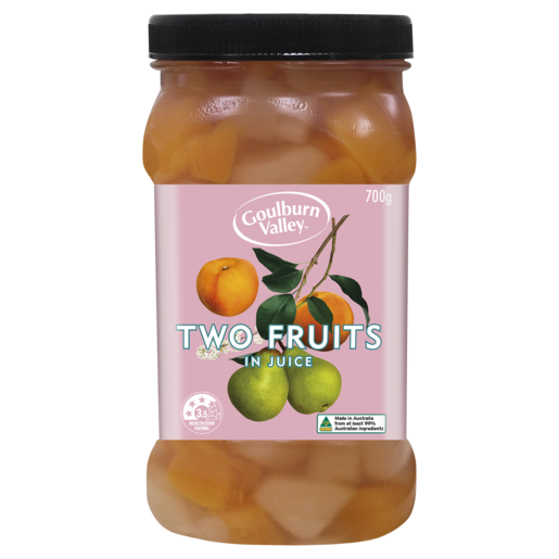 Goulburn Valley Two Fruits in Juice 700g