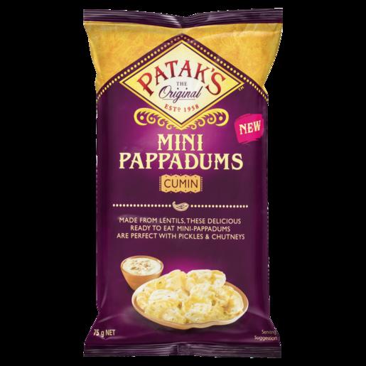 Patak's Mini Pappadums Cumin 75g