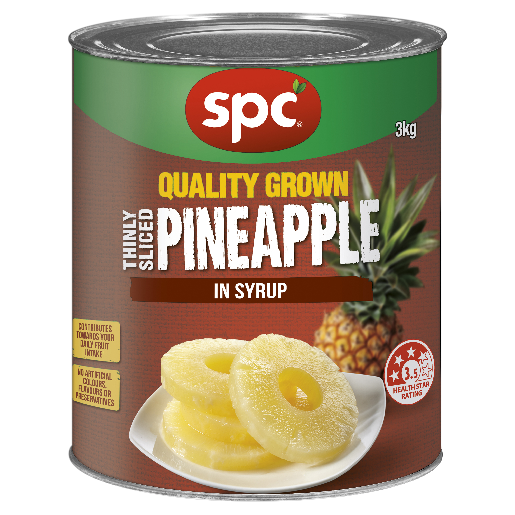SPC Pineapple Thinly Sliced in Syrup 3kg