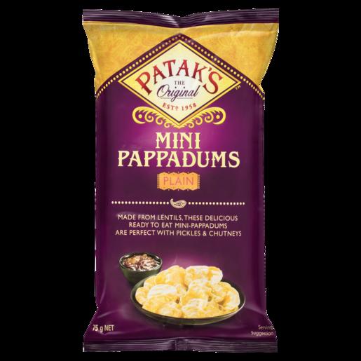 Patak's Mini Pappadums Plain 75g