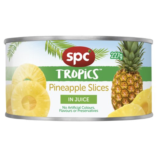 SPC Tropics Pineapple Slices in Juice 227g