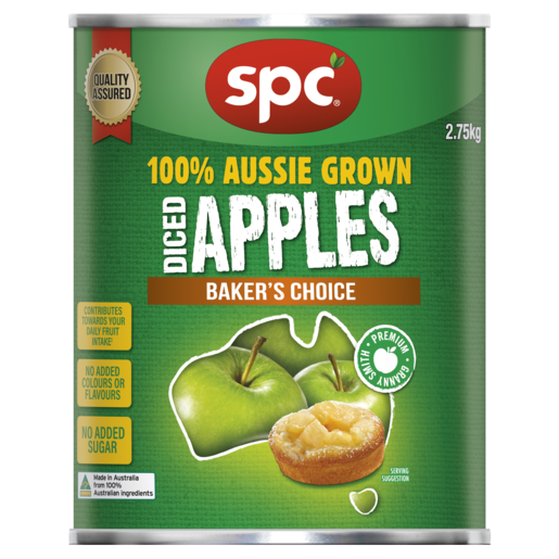 SPC Diced Apples Baker's Choice 2.75kg