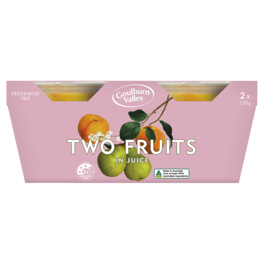 Goulburn Valley Two Fruits In Juice 2 x 170g