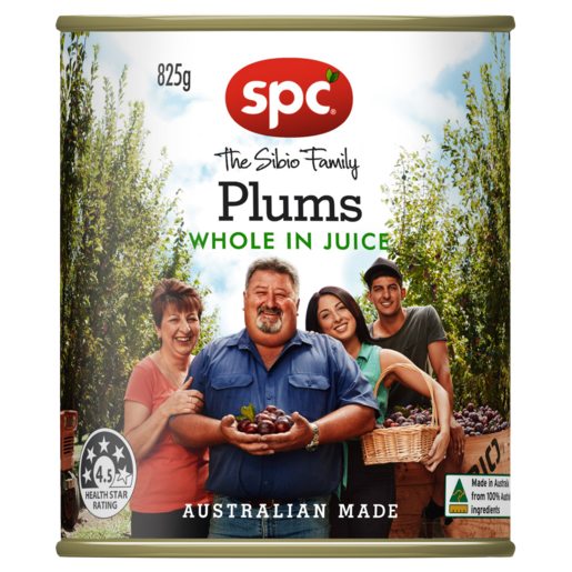 SPC Plums Whole in Juice 825g