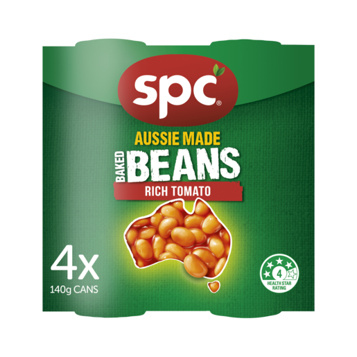 SPC Baked Beans Rich Tomato 4 x 140g