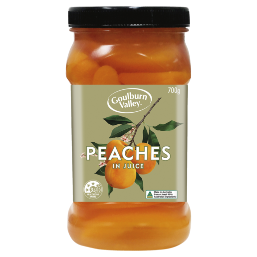 Goulburn Valley Australian Peaches Sliced in Juice 700g