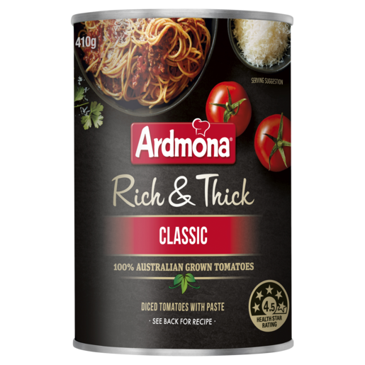 Ardmona Rich & Thick Chopped Tomatoes Classic 410g