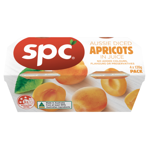 SPC Diced Apricots In Juice 4 x 120g