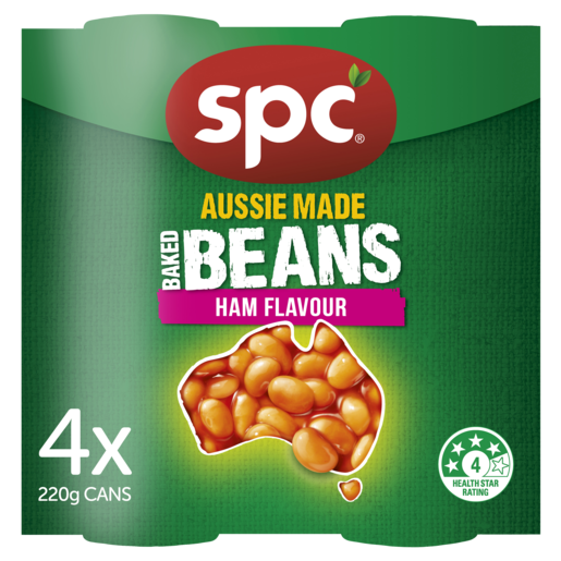 SPC Baked Beans Ham Flavour 4 x 220g