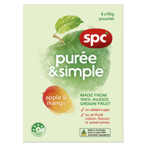 SPC Puree & Simple Apple & Mango 4 x 90g