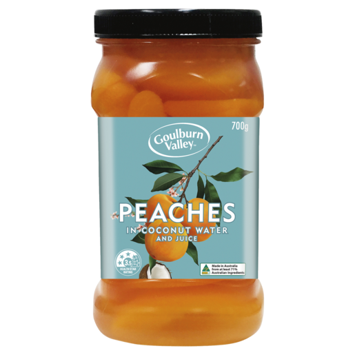 Goulburn Valley Sliced Peaches in Coconut Water 700g