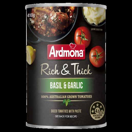 Ardmona Rich & Thick Chopped Tomatoes Basil & Garlic 410g