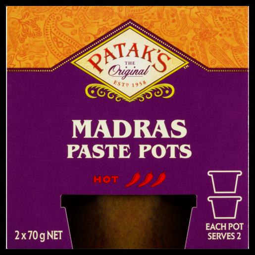 Patak's Madras Paste Pots 2 x 70 g