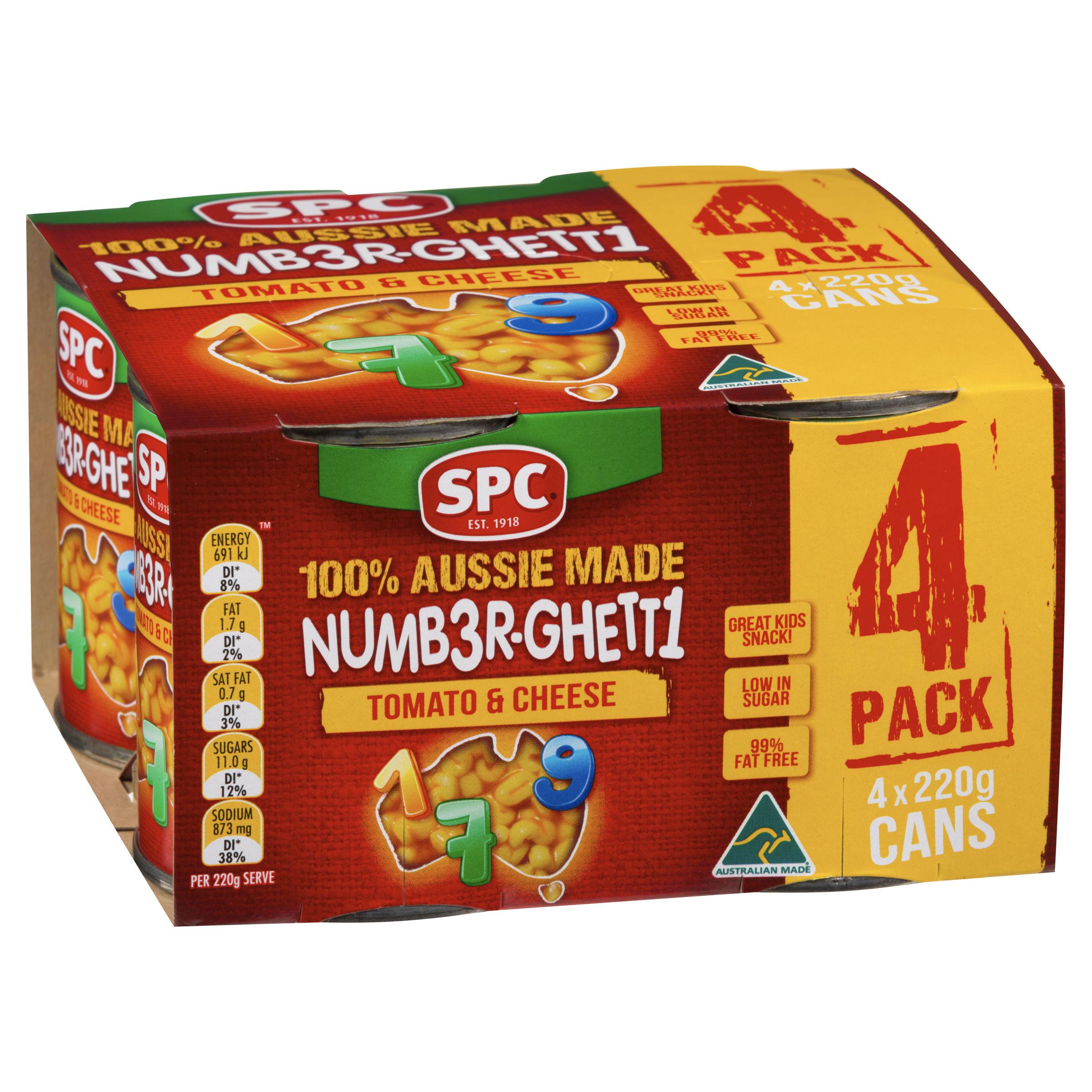 SPC Numberghetti 4 x 220g