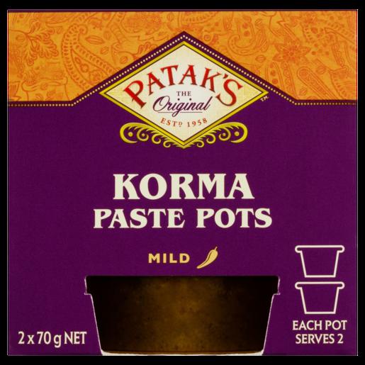 Patak's Korma Paste Pots 2 x 70g