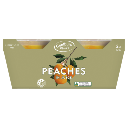 Goulburn Valley Peaches In Juice 2 x 170g