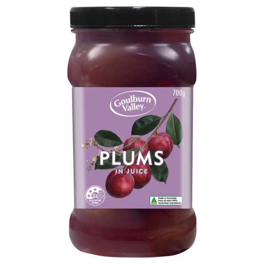 Goulburn Valley Whole Plums in Juice 700g